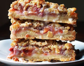 PEACH CRUMBLE BARS (Adapted from The Kitchn)