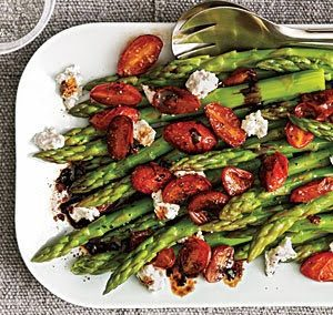 ASPARAGUS WITH BALSAMIC TOMATOES (Adapted from My Recipes)