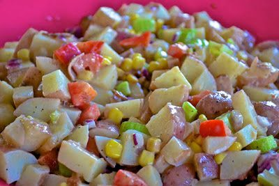 BBQ Potato, Bacon and Corn Salad (Adapted from Kraft Recipes)