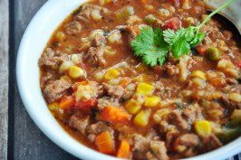 BEEF BARLEY SOUP (Adapted from Food.com)