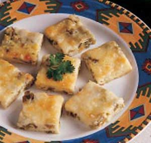 CHILI RELENO SQUARES  (Adapted from Taste of Home)