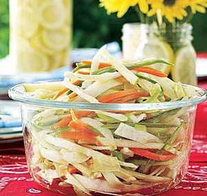 CRUNCHY COLE SLAW (All Recipes)