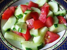 CUCUMBER-TOMATO SALAD (Adapted from A Taste of Home)