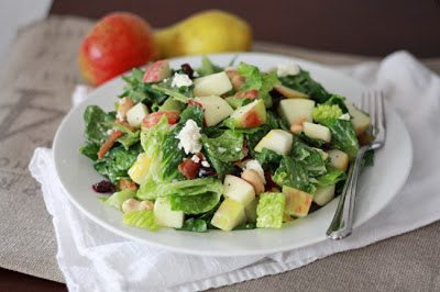 FALL CHOPPED SALAD (Adapted from One Lovely Life)