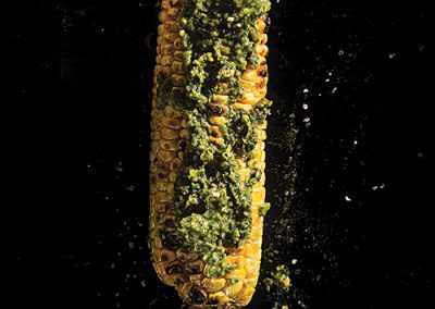 GRILLED CORN WITH PESTO