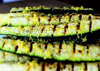 GRILLED ZUCCHINI WITH LEMON SALT (Adapted from Pioneer Woman)