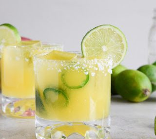 MANGO JALAPENO MARGARITAS (Adapted from How Sweet Eats)