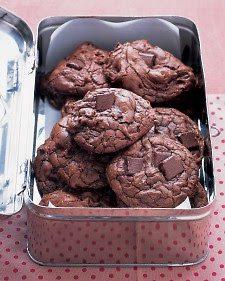 OUTRAGEOUS CHOCOLATE COOKIES (Adapted from Martha Stewart)