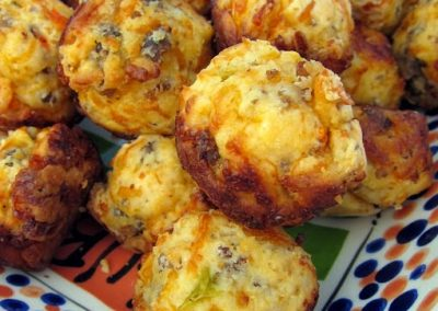 SAUSAGE AND CHEDDAR MUFFINS (Adapted from Plain Chicken)