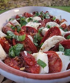 ROASTED TOMATO CAPRESE (Adapted from Ina Garten)