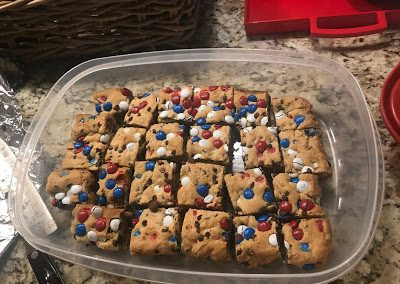 RED WHITE AND BLUE M&Ms BARS  (Adapted from number-2-pencil.com)