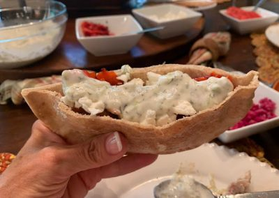 CHICKEN SOUVLAKI GYROS (Adapted from Closet Cooking)