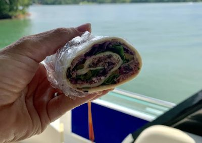 ROAST BEEF AND BLUE CHEESE WRAPS  (Adapted from All Recipes)