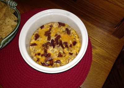 BACON DOUBLE CHEESEBURGER DIP  (Adapted from Closet Cooking)