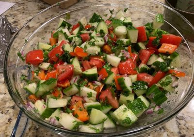 Israeli Tomato and Cucumber Salad  (Adapted from All Recipes)